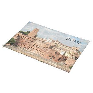 ローマ、イタリア- Trajanの市場の眺め ランチョンマット