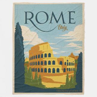 ローマ、イタリアColosseum フリースブランケット