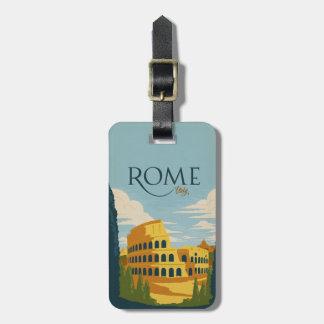ローマ、イタリアColosseum ラゲッジタグ