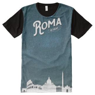 ローマ-プリントのTシャツをくまなく… オールオーバープリントT シャツ