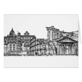 ローマ、ローマ…旅行記念品のギフト グリーティングカード