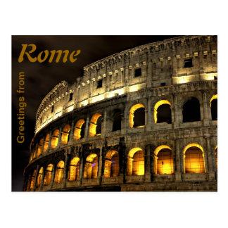 ローマ-夜のコロシアム ポストカード