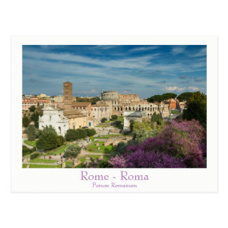 ローマ-文字が付いているフォーラムのRomanumの郵便はがき ポストカード