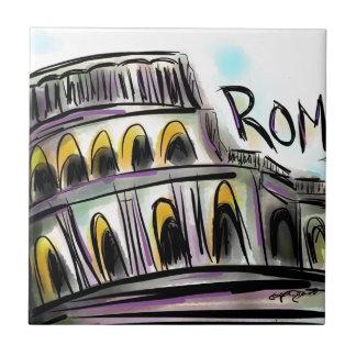 ローマ 正方形タイル小