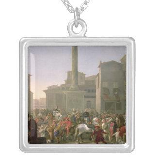 ローマ、c.1650-51のカーニバル シルバープレートネックレス