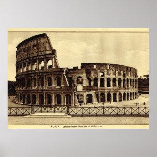 ローマ、c. 1900年のColosseum ポスター