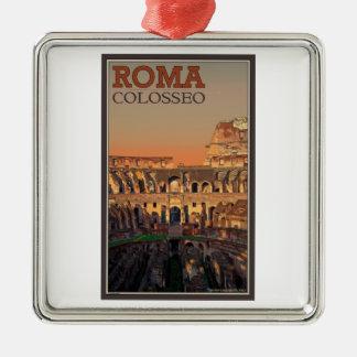 ローマ- Colosseumおよび月 メタルオーナメント