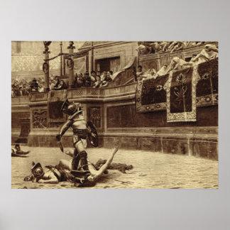 ローマ、Colosseumの剣闘士 ポスター