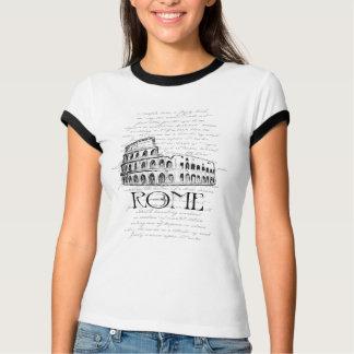 """ローマ""""Colosseum""""デジタルのタイポグラフィのコラージュ Tシャツ"""