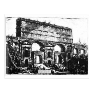 ローマ。 Porta Maggiore。 ジョヴァンニ・バッティスタ・ピラネージ ポストカード