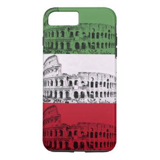 ローマColosseumのイタリアンな旗の電話箱 iPhone 8 Plus/7 Plusケース