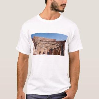 ローマColosseumのパノラマ式のポートレートのの中 Tシャツ