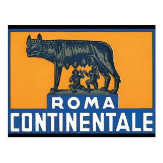 ローマContinentale_Vintage旅行ポスターアートワーク ポストカード