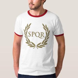 ローマSPQRのローマの上院のシール Tシャツ