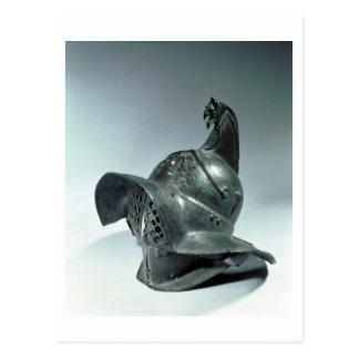 ローマThracianの剣闘士の青銅色のヘルメット第1セリウム ポストカード
