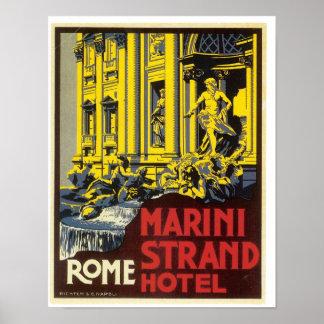 ローマTreviの噴水 ポスター