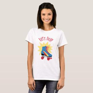 ローラーのスケート選手 Tシャツ