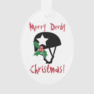ローラーのダービーのクリスマス、ローラースケートで滑る オーナメント