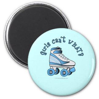 ローラーのダービーのスケート-スカイブルー マグネット