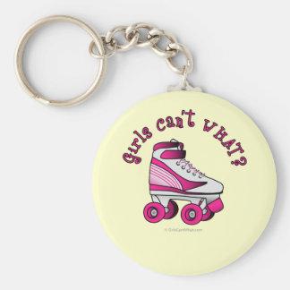 ローラーのダービーのスケート-ピンク キーホルダー