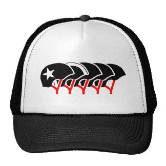 ローラーのダービーのヘルメット(黒いデザイン) 帽子