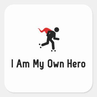 ローラースケートで滑るの英雄 スクエアシール