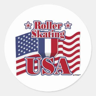 ローラースケートで滑る米国 ラウンドシール