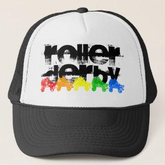 ローラースケートのグランジな虹 キャップ