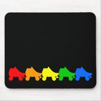ローラースケートの虹 マウスパッド