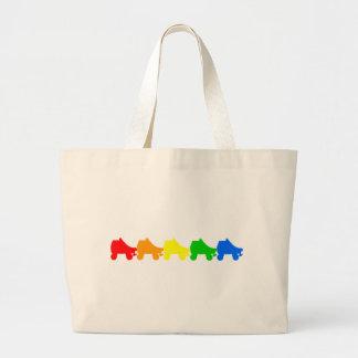 ローラースケートの虹 ラージトートバッグ