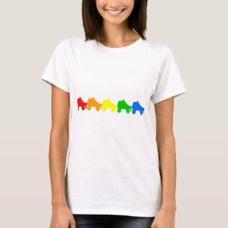 ローラースケートの虹 Tシャツ