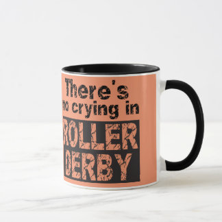 ローラーダービーに泣き叫びがありません マグカップ