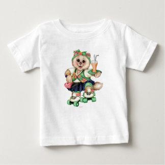 ローラーCATのかわいいベビーの罰金のジャージーのTシャツ ベビーTシャツ