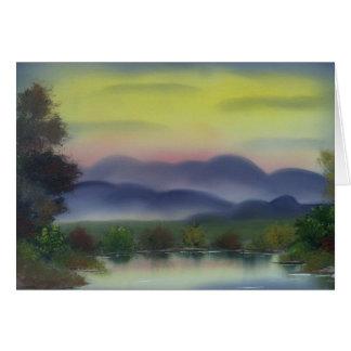 ローリング・ヒルズのリンダの疾風による元の油絵 カード