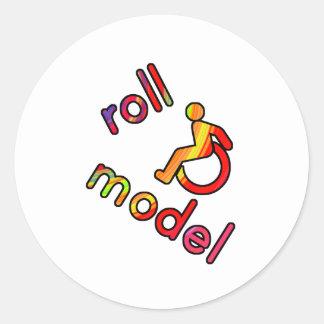 ロールモデル-不能のティー-明るい色の… ラウンドシール