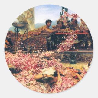 ローレンス・アルマ=タデマ著Heliogabalusのバラ ラウンドシール