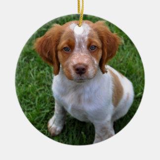 ローンの規則! ブリッタニーの子犬のオーナメント セラミックオーナメント