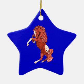 ローンのAppaloosaの馬の星のオーナメントの養育 セラミックオーナメント