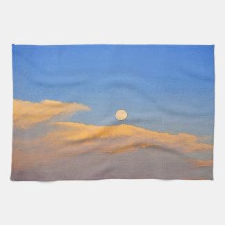 ワイオミングによってすごい月の景色の台所タオル キッチンタオル