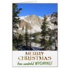 ワイオミングのすばらしいメリークリスマス カード