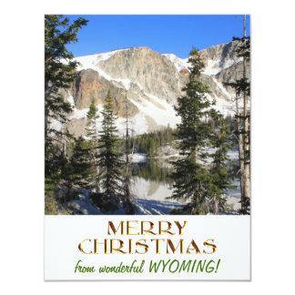 ワイオミングのすばらしいメリークリスマス 10.8 X 14 インビテーションカード