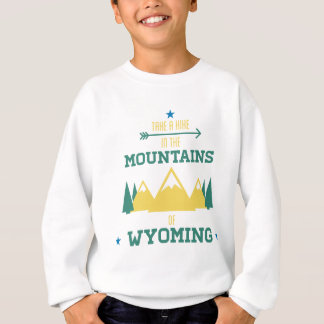 ワイオミングのハイキング スウェットシャツ