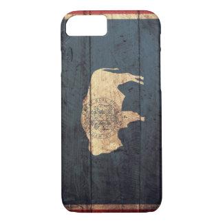 ワイオミングの古い木の旗 iPhone 8/7ケース