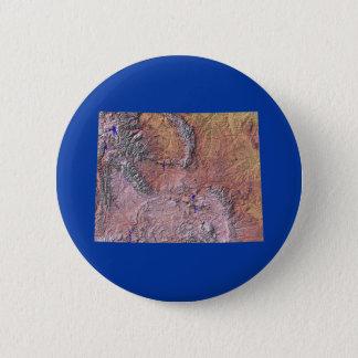 ワイオミングの地図ボタン 缶バッジ
