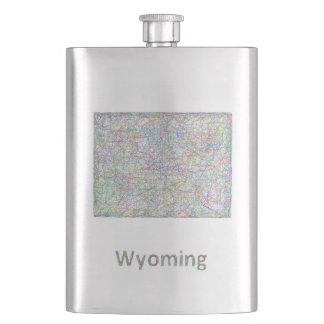 ワイオミングの地図 フラスク