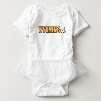ワイオミングの女の子の赤ん坊のボディスーツ ベビーボディスーツ