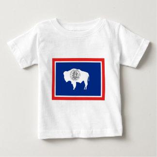 ワイオミングの州の旗 ベビーTシャツ