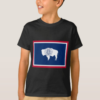 ワイオミングの州の旗 Tシャツ