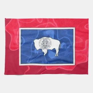 ワイオミングの旗 キッチンタオル