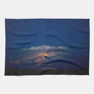 ワイオミングの空の台所タオル上の雷ブーマー キッチンタオル